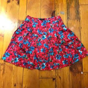 Talbots Red & Blue Spring Floral Skirt